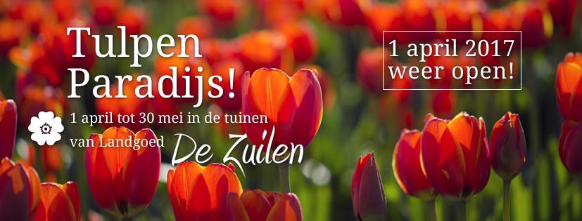 Landgoed De Zuilen 1 april weer open met Tulpenparadijs!