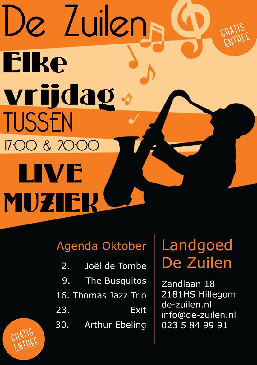 Elke vrijdag live muziek - Hillegom, Heemstede, Bennebroek, Haarlem